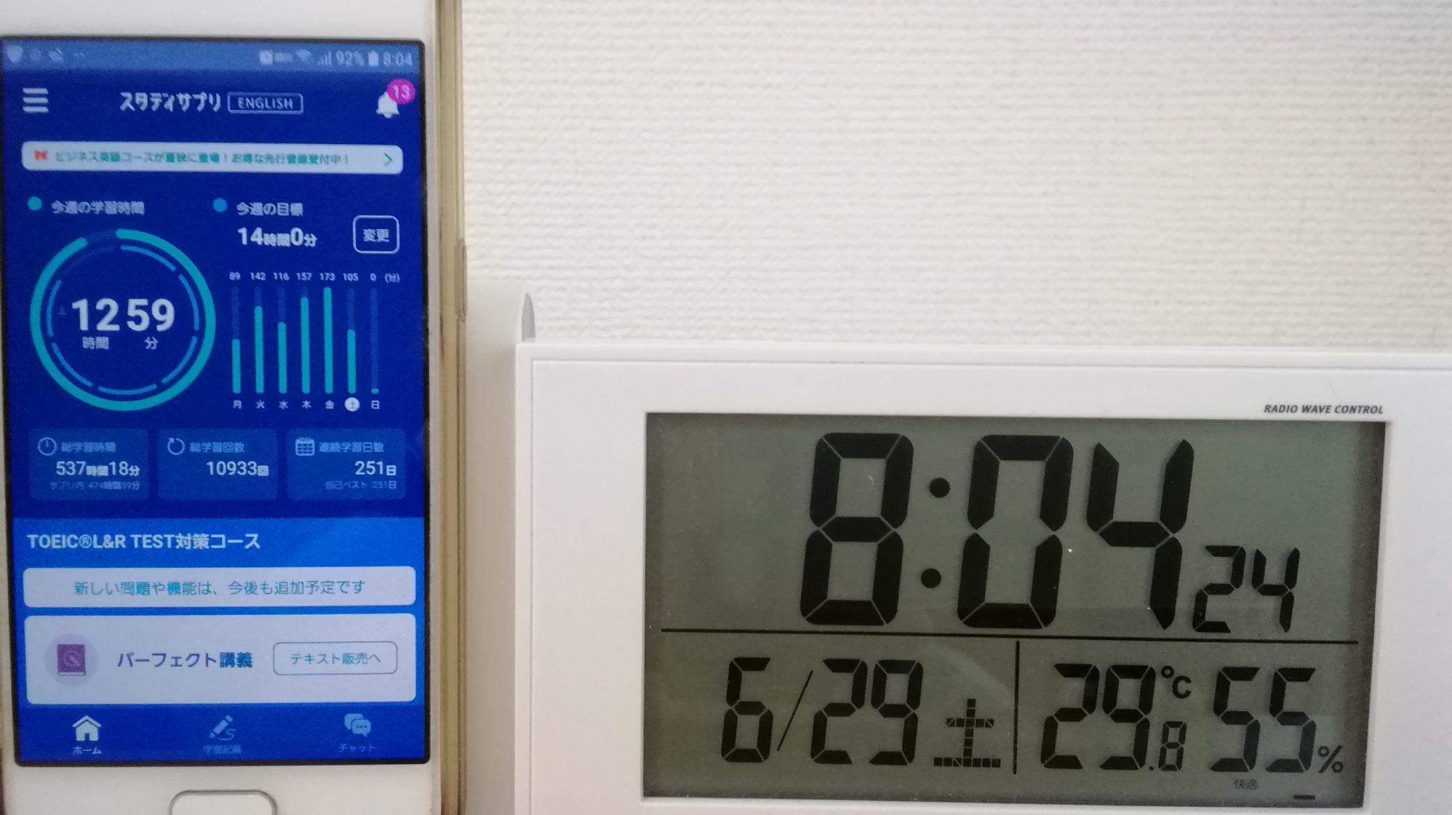 250日目スタディサプリTOEICブログ写真②