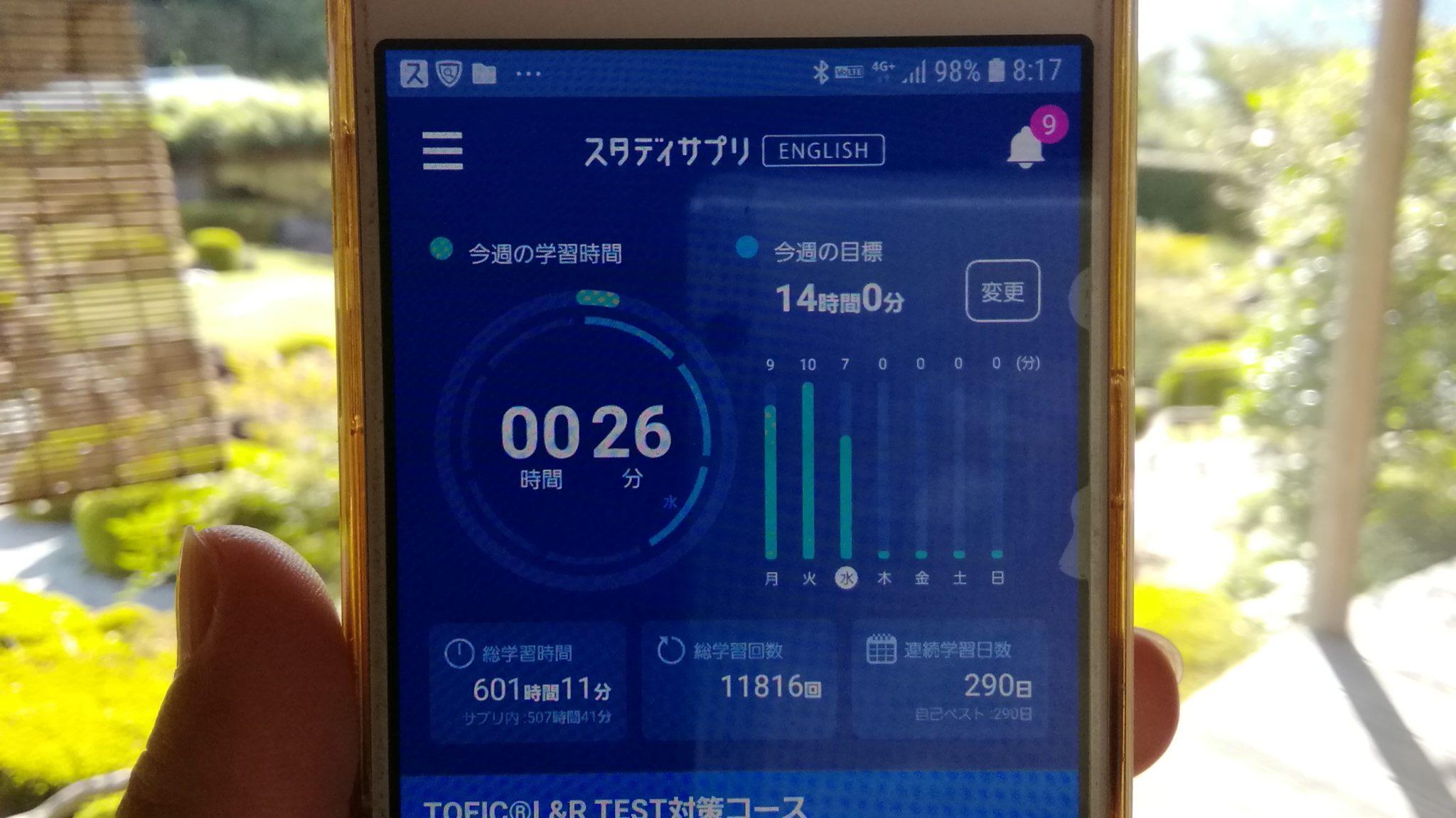 289日目スタディサプリTOEICブログ写真①